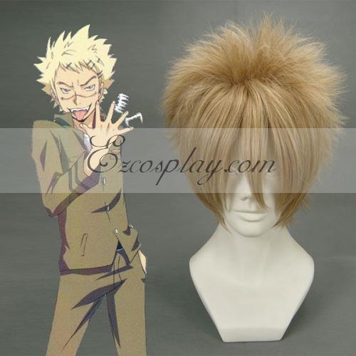 Hitman Reborn Joushima Ken Light Brown Cosplay Wig-011F