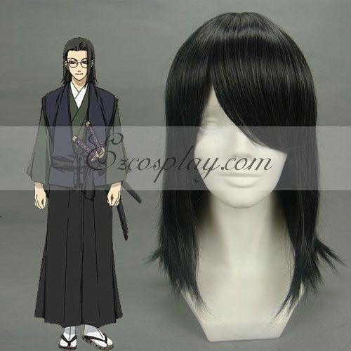 Hakuouki Keisuke Yamanami Black Cosplay Wig-026A