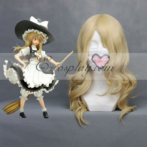 Touhou Project Marisa Light Yellow Cosplay Wig