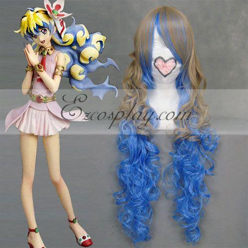 Tengen Toppa Nia Brown&Blue Cosplay Wig-037C