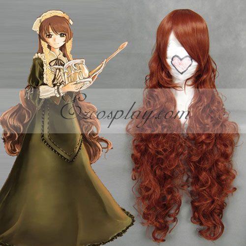 Rozen Maiden Jade Stern Red Brown Cosplay Wave Wig-037E