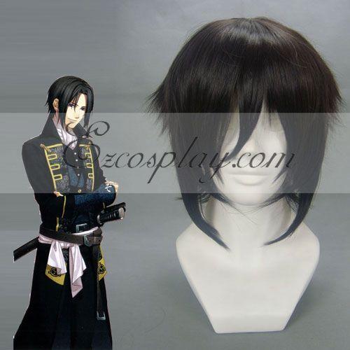 Hakuouki Hijikata Toshizo Black Cosplay Wig-054C