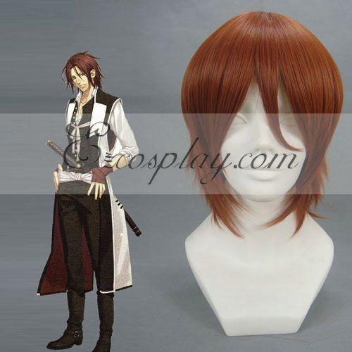 Hakuouki Sanosuke Harada Red Brown Cosplay Wig-055A