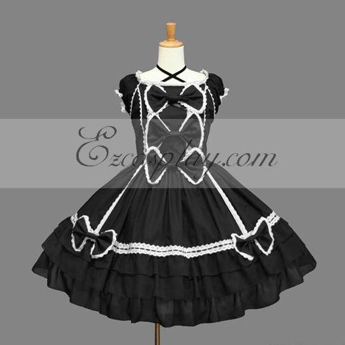 Black Gothic Lolita Dress -LTFS0105
