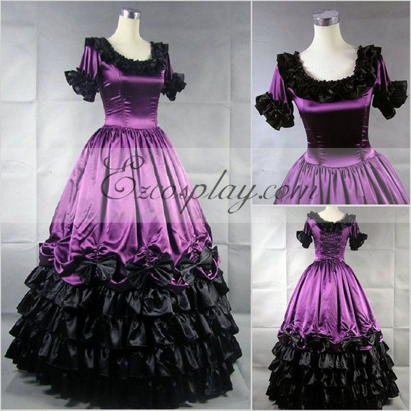 Victorian Dresses, Clothing: Patterns, Costumes, Custom Dresses Roseo Short Sleeve Gothic Lolita Dress-LTFS0109 $117.99 AT vintagedancer.com