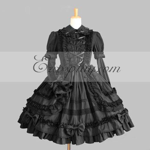 Black Gothic Lolita Dress -LTFS0118