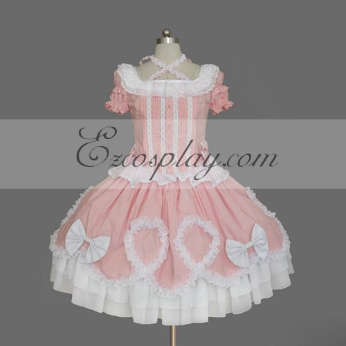 Pink Gothic Lolita Dress -LTFS0149