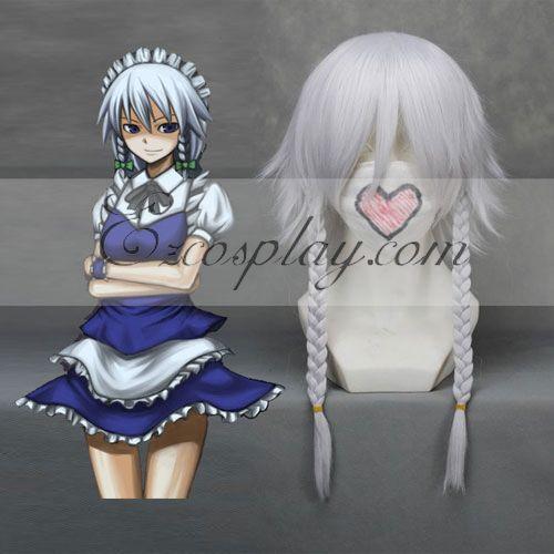 Touhou Project Izayoi Sakuya White Cosplay Wig-149A