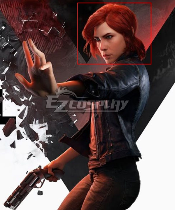 2019 Video Game Control Jesse Faden Red Brown Cosplay Wig