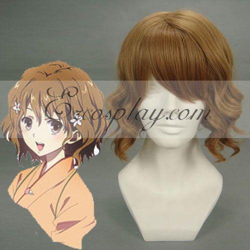 Hana Saku Iroha matsumae ohana Brown Cosplay Wig-207A