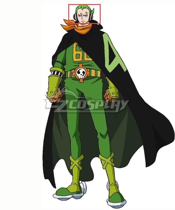 One Piece  Germa 66 Vinsmoke Yonji Green Cosplay Wig