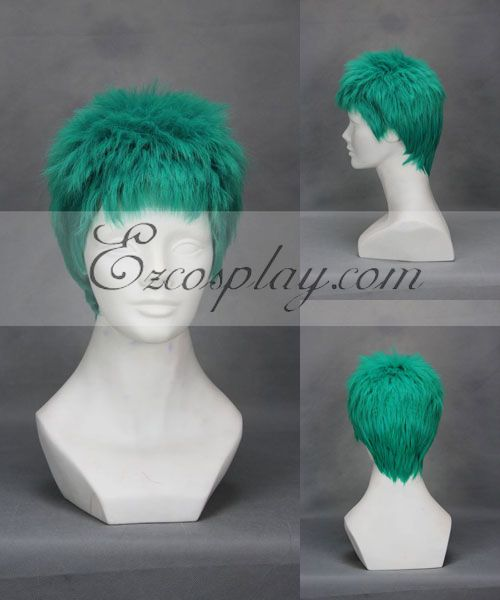 One Piece Roronoa Zoro Green Cosplay Wig 243A