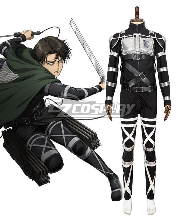 Attack On Titan Shingeki No Kyojin Final Season Levi Ackerman Cosplay Costume - Premium Edition