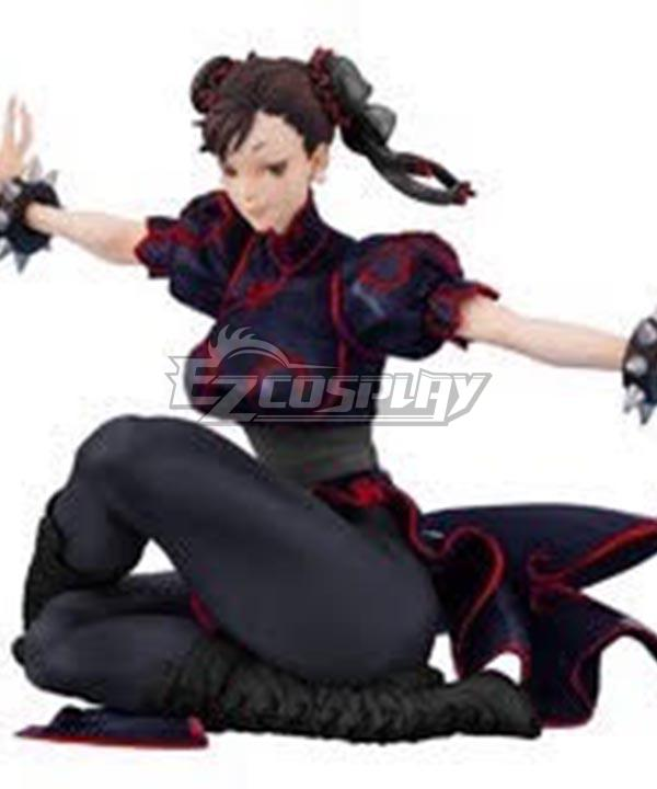 Street Fighter Chun li Black Dress Cosplay Costume