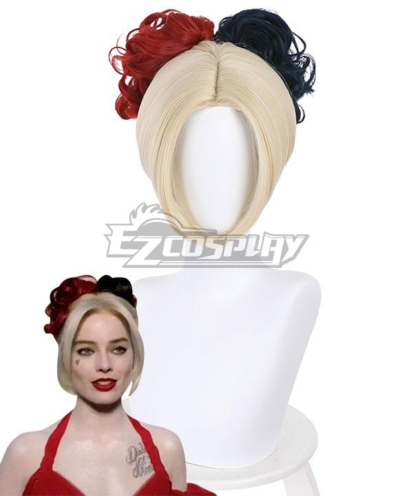 DC The Suicide Squad 2 Harley Quinn Golden Cosplay Wig