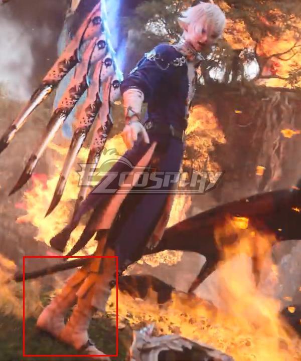 Final Fantasy XIV 6.0 Endwalker FF14 Alphinaud Leveilleur Silver Shoes Cosplay Boots