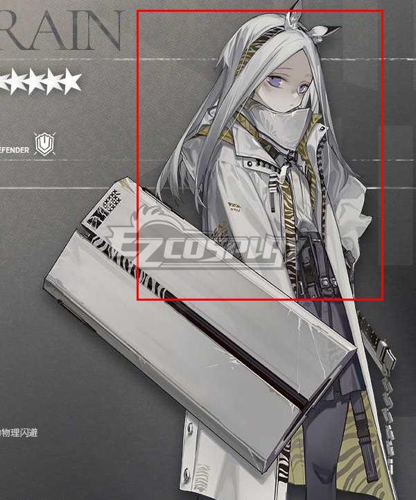 Arknights HeavyRain Silver Cosplay Wig