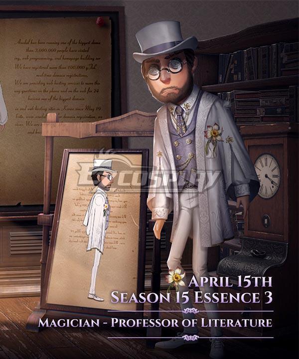Identity V Magician Servais Le Roy Professor of Literature Cosplay Costume