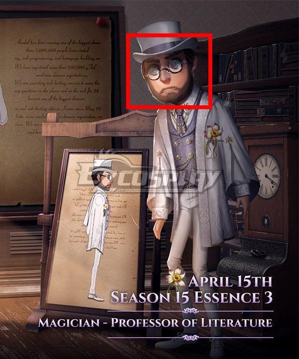 Identity V Magician Servais Le Roy Professor of Literature Black Cosplay Wig