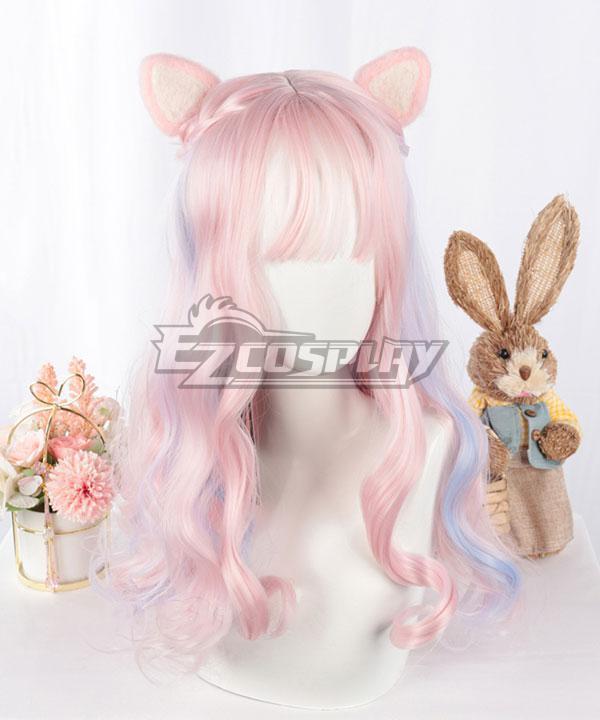Japan Harajuku Lolita Series Pink Purple Cosplay Wig - EWL163Y
