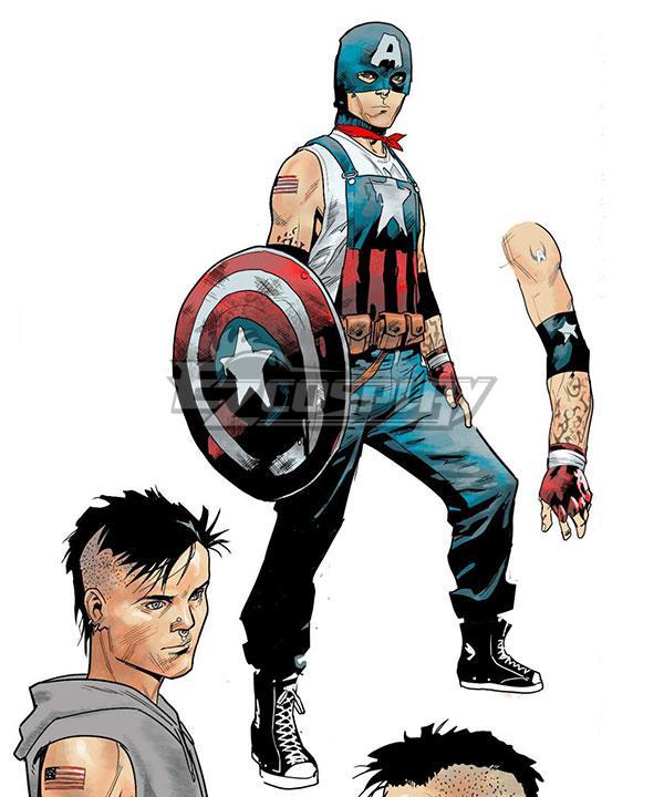 Marvel Comics Aaron Fischer Captain America Cosplay Costume
