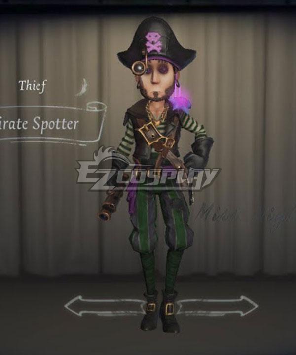 Identity V Kreacher Pierson Thief Pirate Spotter Halloween Cosplay Costume