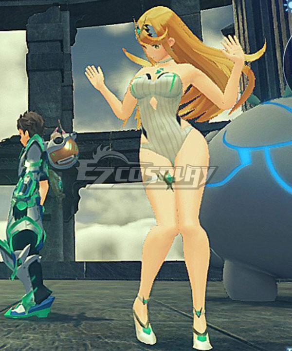 Xenoblade Chronicles 2 Beach Mythra Swimsuit Cosplay Costume