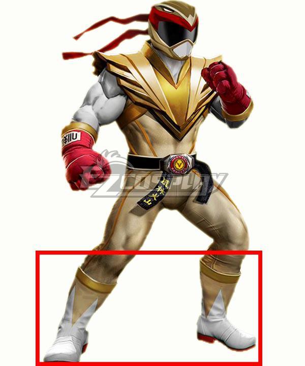 Power Rangers: Battle for the Grid Street Fighter Crimson Hawk Ranger Ryu Ranger White Shoes Cosplay Boots