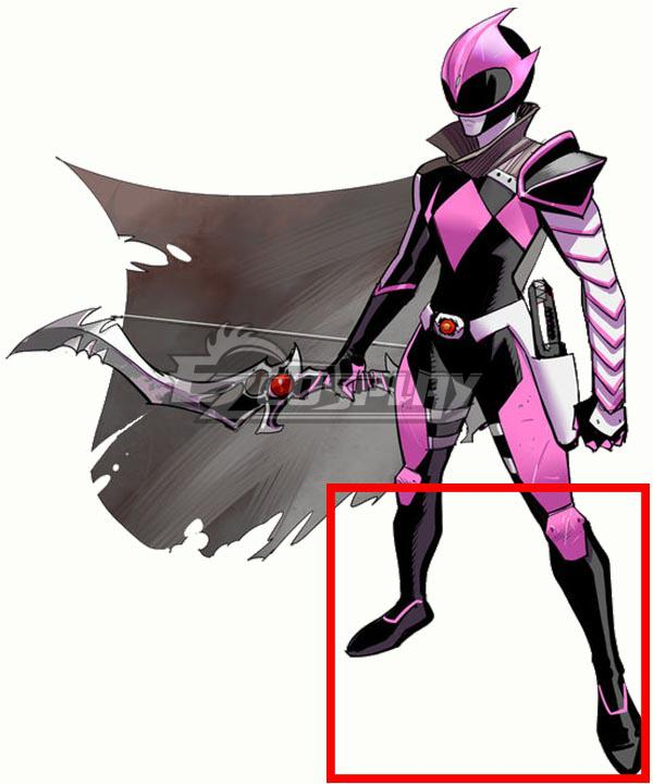 Mighty Morphin Power Rangers Pink Solar Ranger Ranger Slayer Black Shoes Cosplay Boots