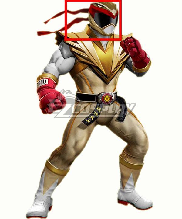 Power Rangers: Battle for the Grid Street Fighter Crimson Hawk Ranger Ryu Ranger Helmet Cosplay Accessory Prop