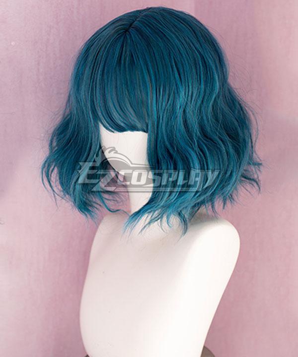 Japan Harajuku Lolita Series  Polaris Blue Green Cosplay Wig - EWL164Y