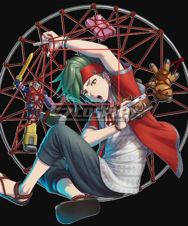 Zanki Zero Ryo Mikajime Green Cosplay Wig