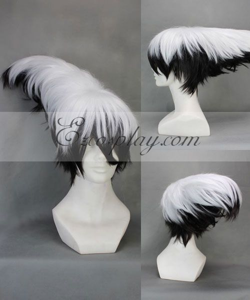 Nurarihyon no Mago Nura Rikuo White&Black Cosplay Wig-274A