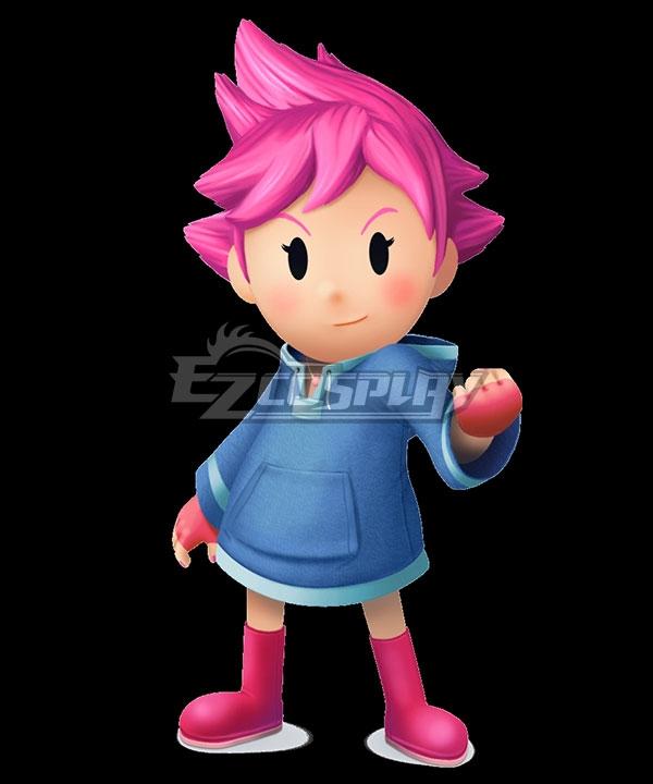 EarthBound Kumatora Pink Cosplay Wig