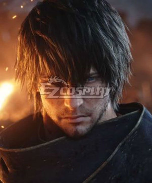 Final Fantasy XIV FF14 Samurai Black Cosplay Wig