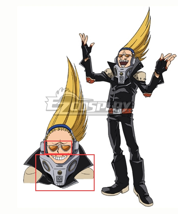 My Hero Academia Boku No Hero Akademia Present Mic Glasses Neck wear Cosplay Accessory Prop