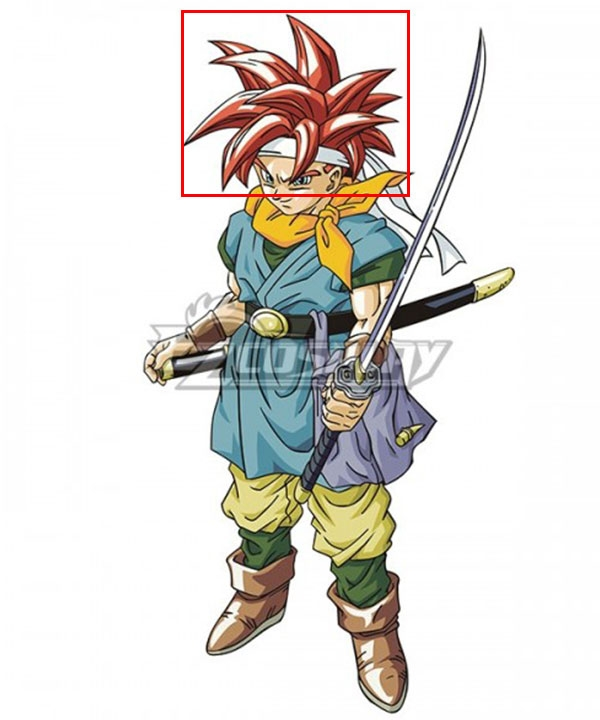 Chrono Trigger Cron Red Cosplay Wig
