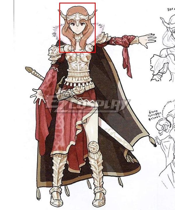 Fire Emblem Echoes: Shadows of Valentia Celica Orange Cosplay Wig