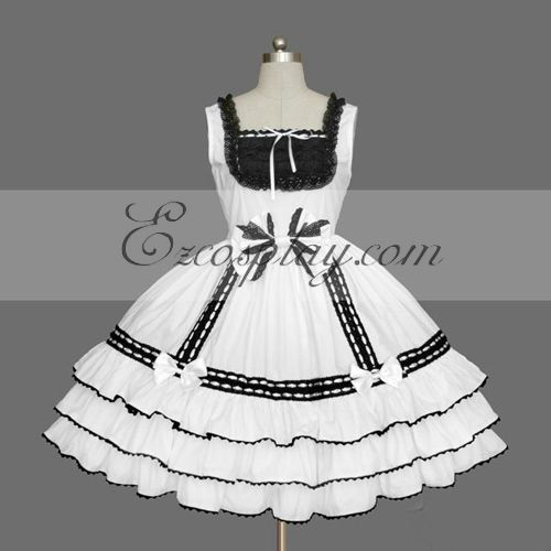 White Gothic Lolita Dress -LTFS0075