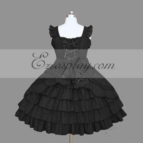 Black Gothic Lolita Dress -LTFS0078