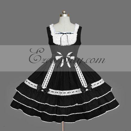 Black Gothic Lolita Dress -LTFS0080