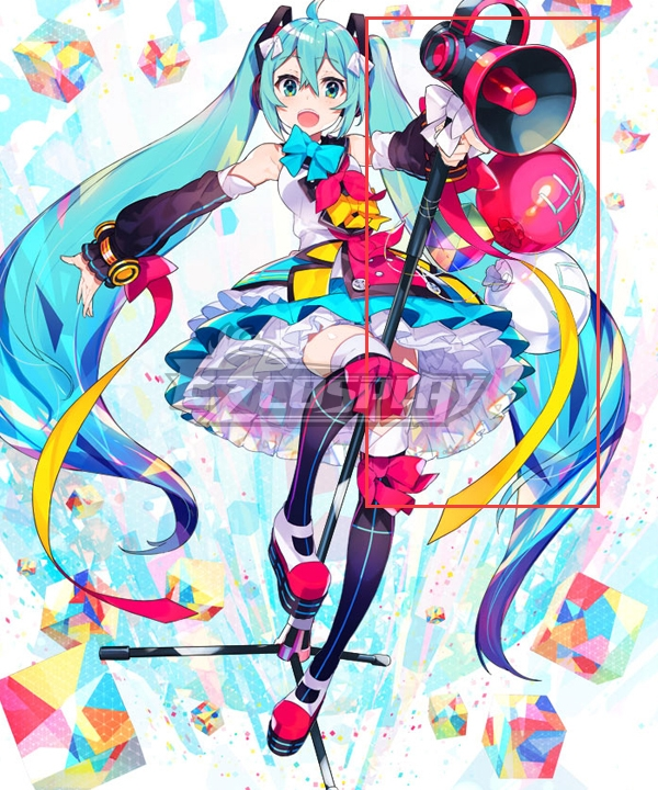 Vocaloid Hatsune Miku Magical Mirai 2018 Microphone Cosplay Weapon Prop
