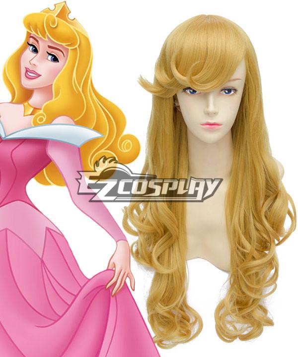 Lacos Disney Sleeping Beauty Aurora Princess Long Wavy Blonde Style Cosplay Wig