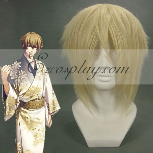 Hakuouki Kazama Chikage Brown Cosplay Wig-054B