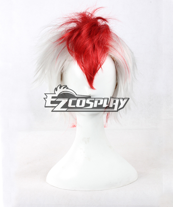 Short Hoozuki no Reitetsu Red white Mixed Anime Cosplay Wig -337A