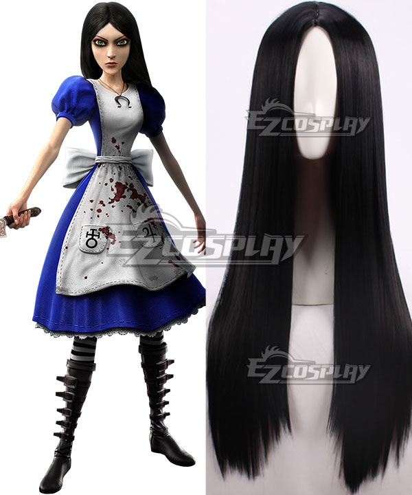 Alice: Madness Returns Alice Black Cosplay Wig