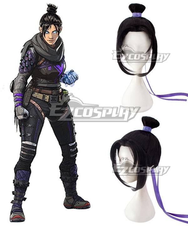 Apex Legends Wraith Black Cosplay Wig