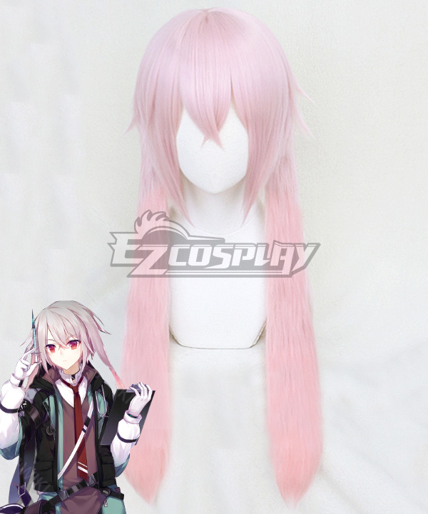 Arknights Ansel Pink Cosplay Wig