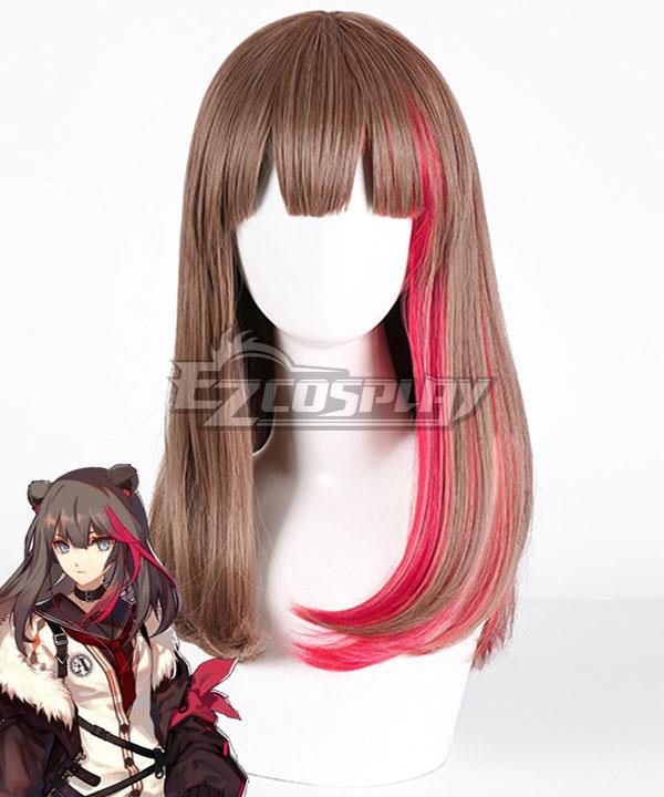 Arknights Зима Brown Pink Cosplay Wig