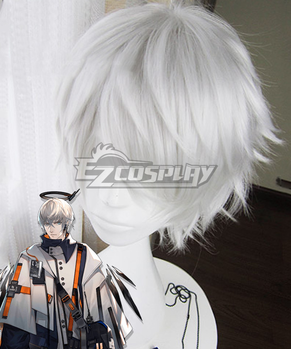 Arknights Executor White Cosplay Wig